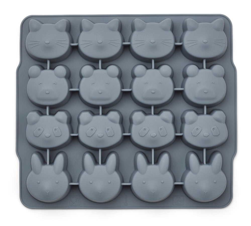 Sonny Silicone Ice Cube Tray (pack of 2) - Blue Mix