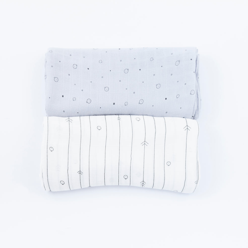 Baby Bamboo Muslin (pack of 2)