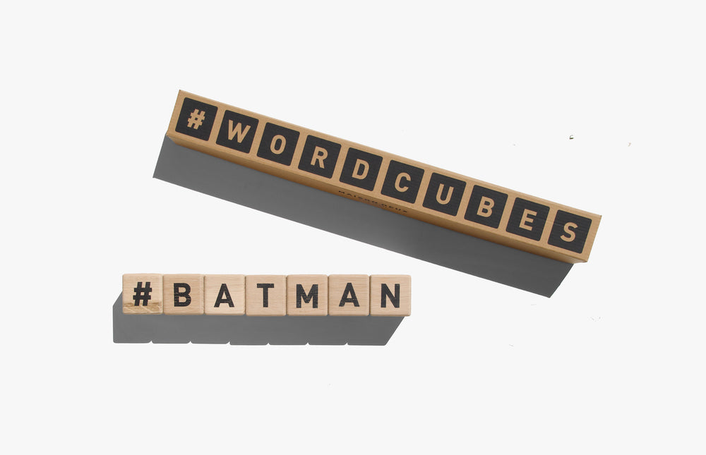 Wooden Word Cubes in Black