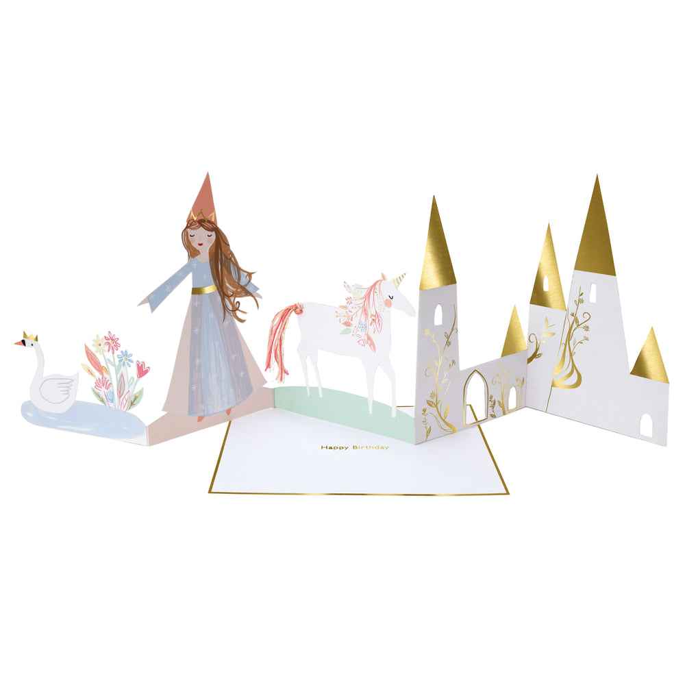 Princess Concertina Birthday Card