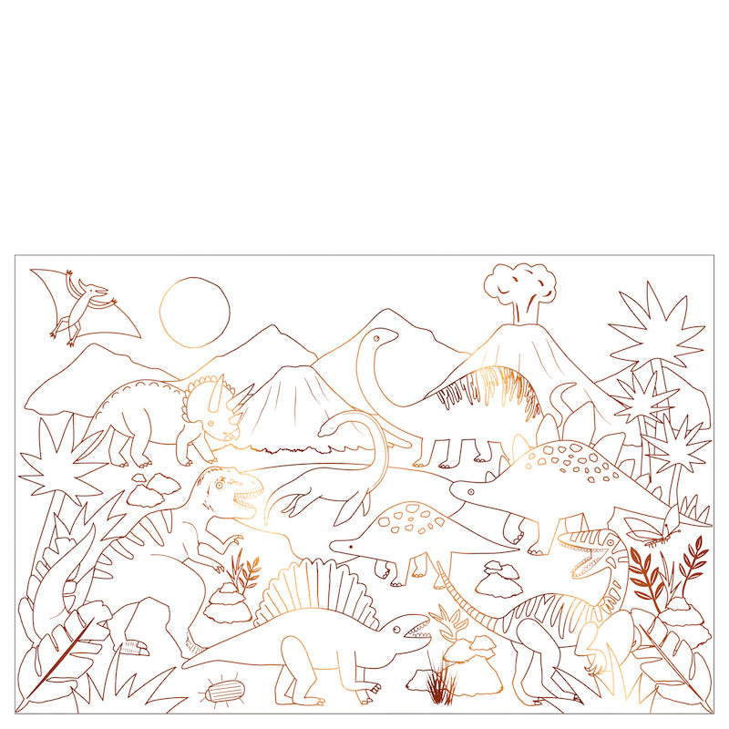 Dinosaur Colouring Poster