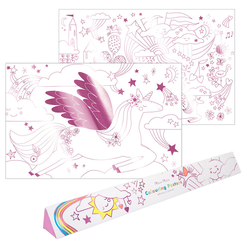 Unicorn Colouring Poster