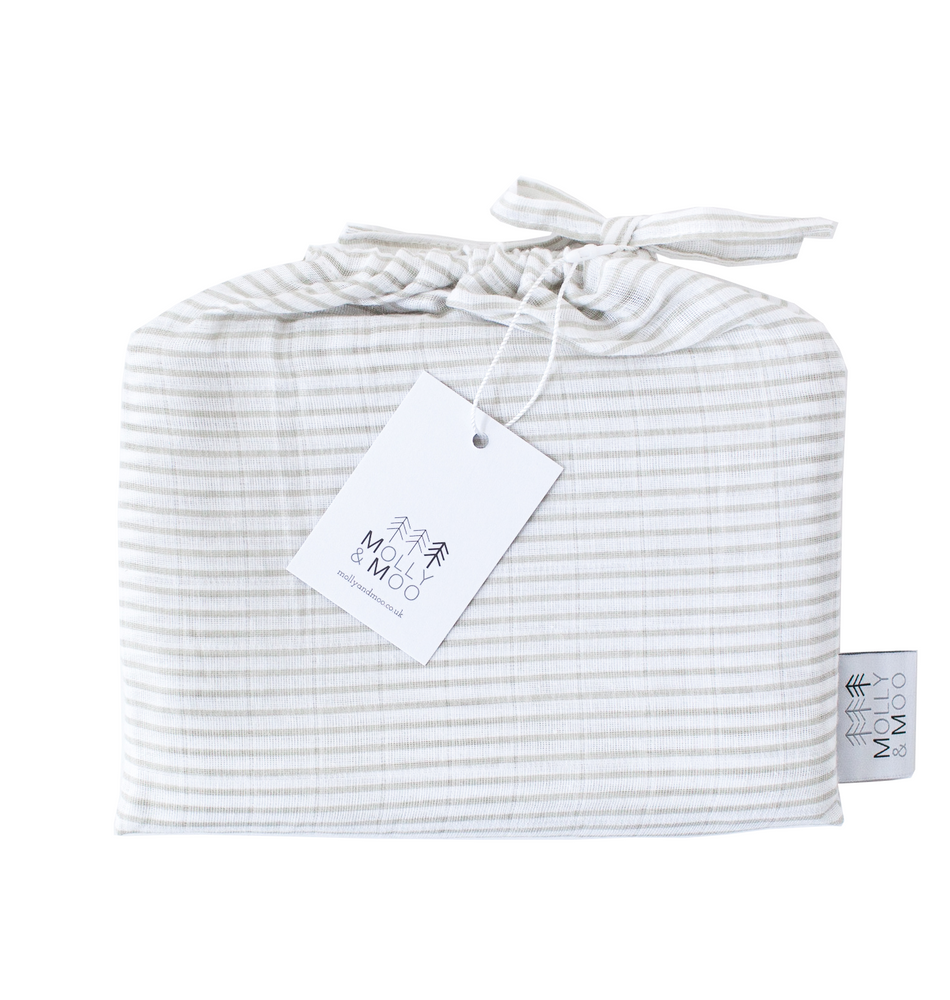 Organic Little Bundle Swaddle - Grey Stripe
