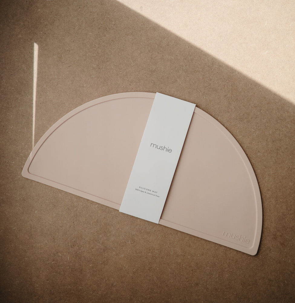 Mushie Silicone Placemat in Blush