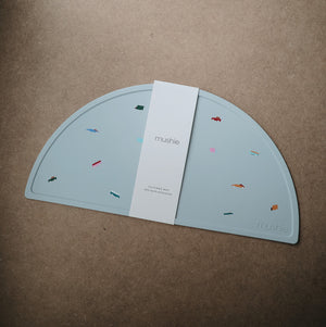 Mushie Silicone Placemat in Retro Cars