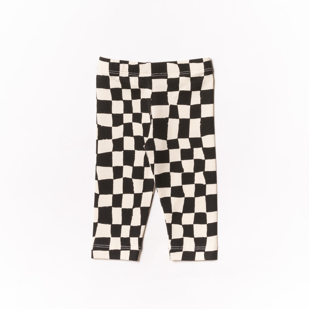 Baby Black Checker Leggings
