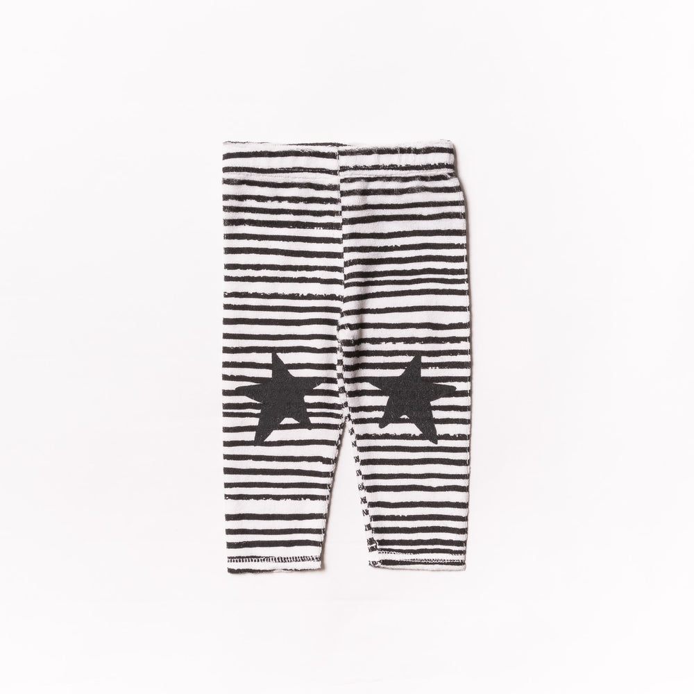 Baby Black Stripe Terry Leggings