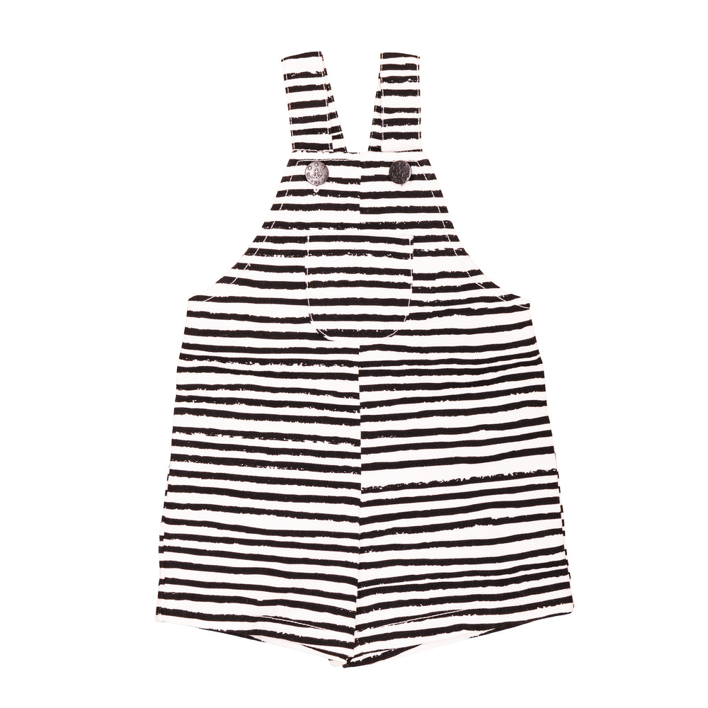 Baby Dungarees Black Stripes