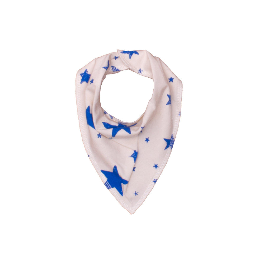 Drooling Scarf Blue Stars