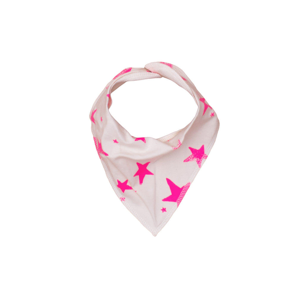 Drooling Scarf Neon Pink Stars