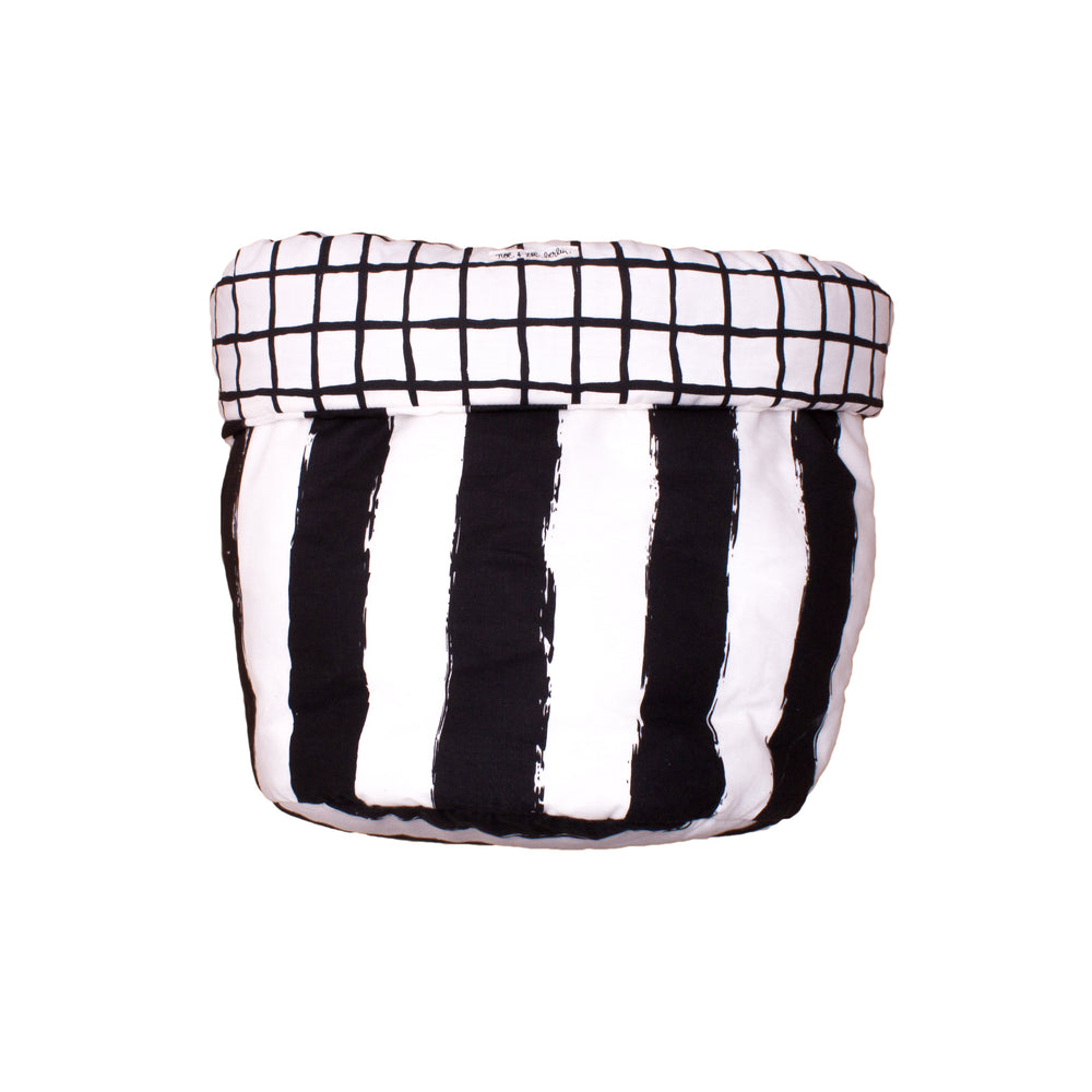 Grid and Stripes Storage Basket