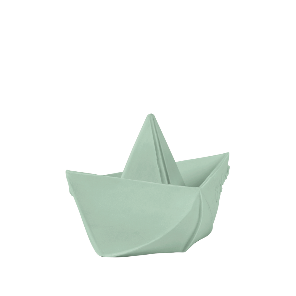 Origami Boat Bath Toy in Mint