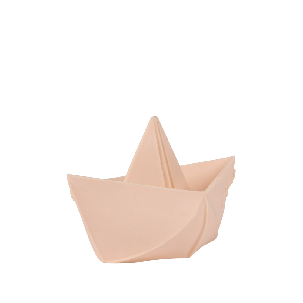 Origami Boat Bath Toy in Nude
