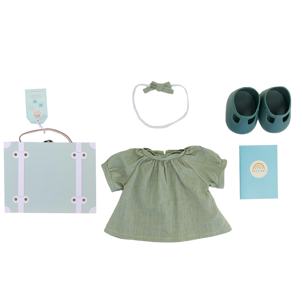 Dinkum Doll Travel Togs - Mint *PRE-ORDER*