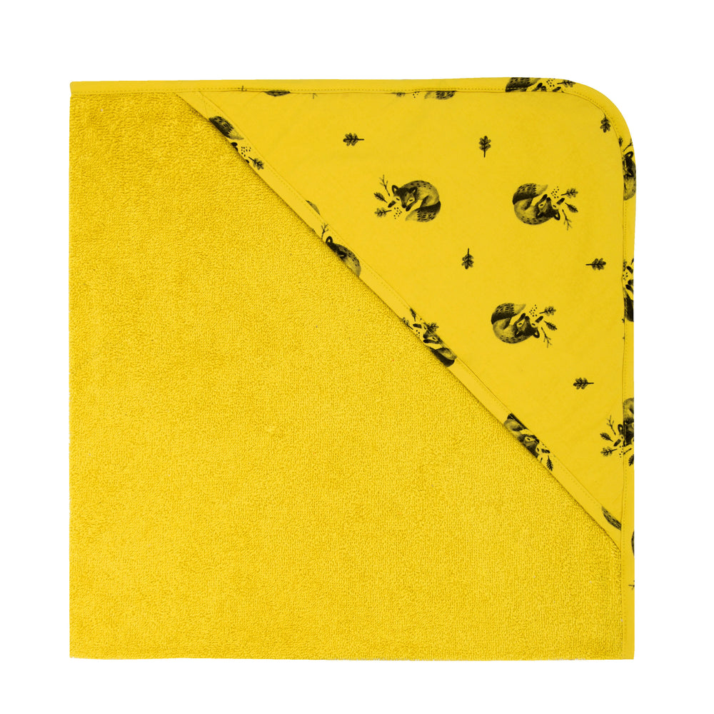 Colette Baby Hooded Bath Towel in Mustard Yellow