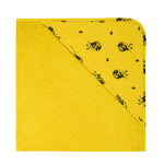 Rose in April Colette Baby Hooded Bath Towel in Mustard Yellow