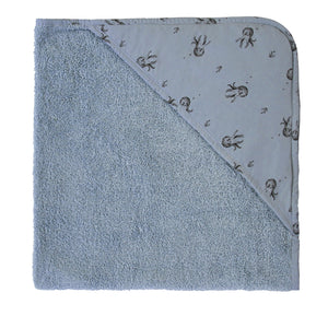 Colette Baby Hooded Bath Towel in Grey Blue