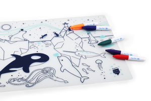 Super Petit Silicone Colouring in Placemat – Ice
