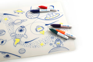 Silicone Colouring in Placemat – Space
