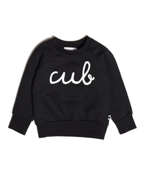 Tobias & the Bear Cub Sweatshirt in Black from Mama + Max