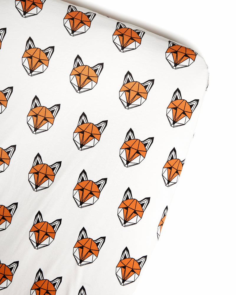 Tobias & the Bear 'Just Call Me Fox' Cotbed Sheet