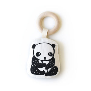 Organic Cotton Panda Rattle