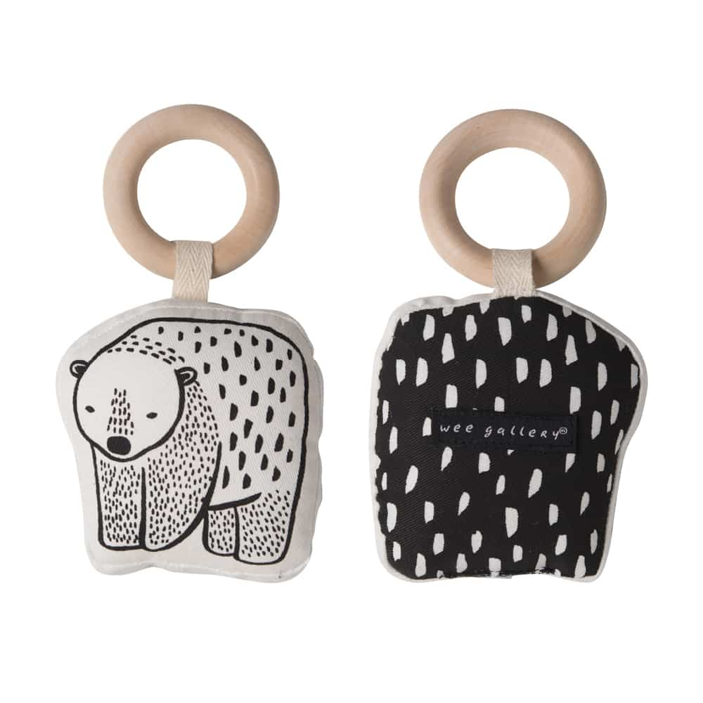 Wee Gallery Organic Cotton Bear Rattle