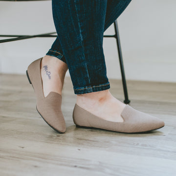 Dressed to Impress Flats- Taupe