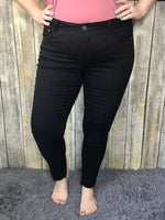 Adaline Jeans- Black Released Step Hem Skinny