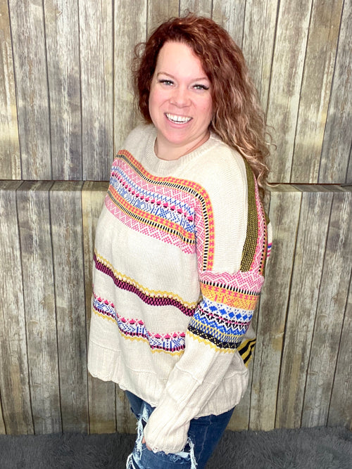 Boho Babe Knit Sweater- Easel