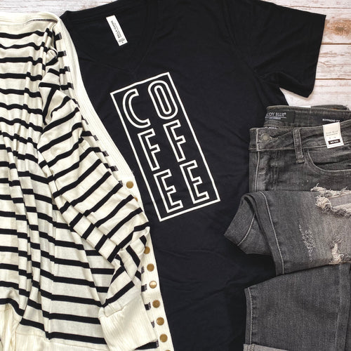 Coffee V-Neck Tee