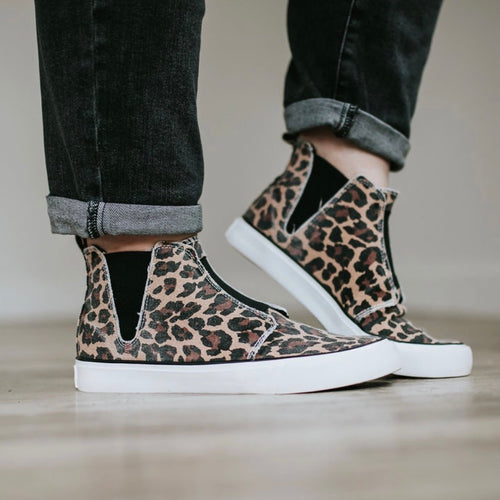 Wild Side Sneakers- Very G Cheetah Print