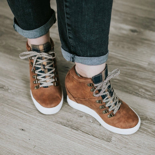 Falling in Love Wedge Sneaker- Not Rated Tibi Tan
