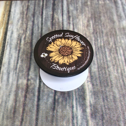 Spotted Sunflower Pop-Socket