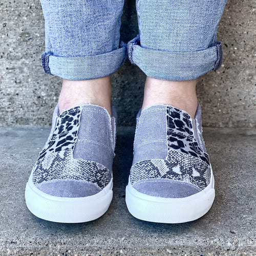 Blowfish Maddox Sneaker- Grey Mix