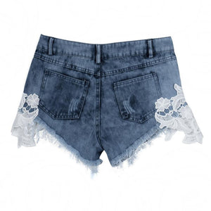 Distressed Lace Shorts - Dash Couture