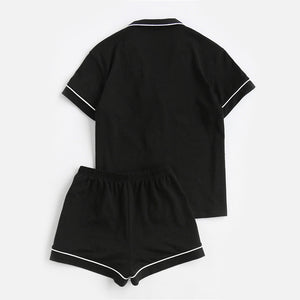 Piped Pajama Set - Dash Couture