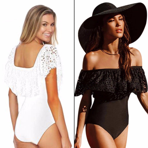 Off-the-Shoulder Frill One Piece - Dash Couture
