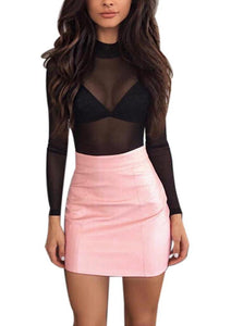 Pink Patent Bodycon Skirt - Dash Couture