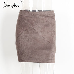 Faux Suede Skirt - Dash Couture