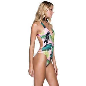Pink Frond One Piece - Dash Couture