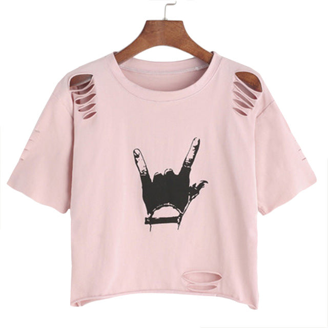 Pink Rocker Tee - Dash Couture