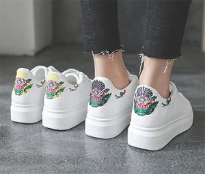 Floral Platform Sneakers - Dash Couture