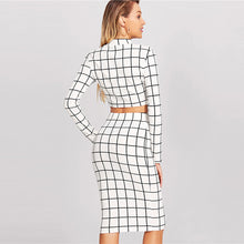 Grid Mock Neck Set - Dash Couture