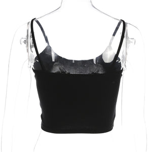 Dragon Cropped Tank - Dash Couture