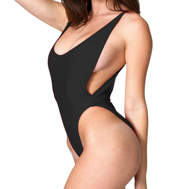 Deep Cut One Piece - Dash Couture