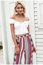 Off-the-Shoulder Tied Crop Top - Dash Couture