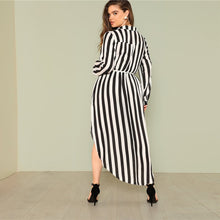 Plus Size Striped Maxi Dress - Dash Couture