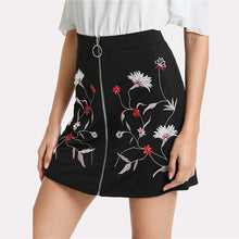 Botanical Zip-up Skirt - Dash Couture