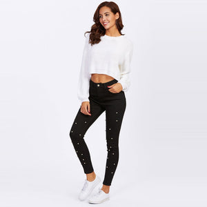 Black Pearl Skinny Jeans - Dash Couture